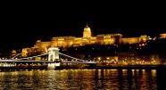 Chain bridge with the Buda Castle